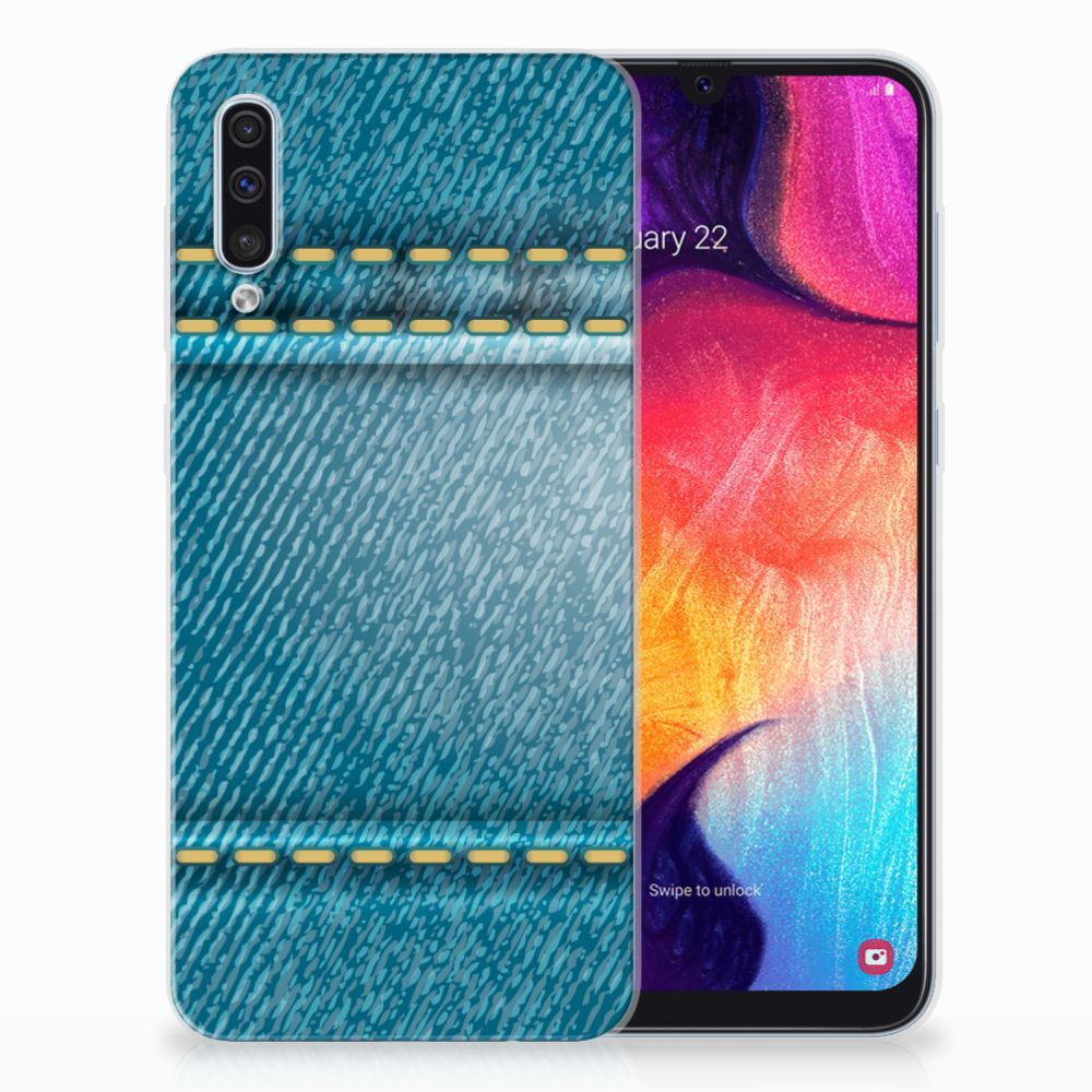 Samsung Galaxy A50 Silicone Back Cover Jeans