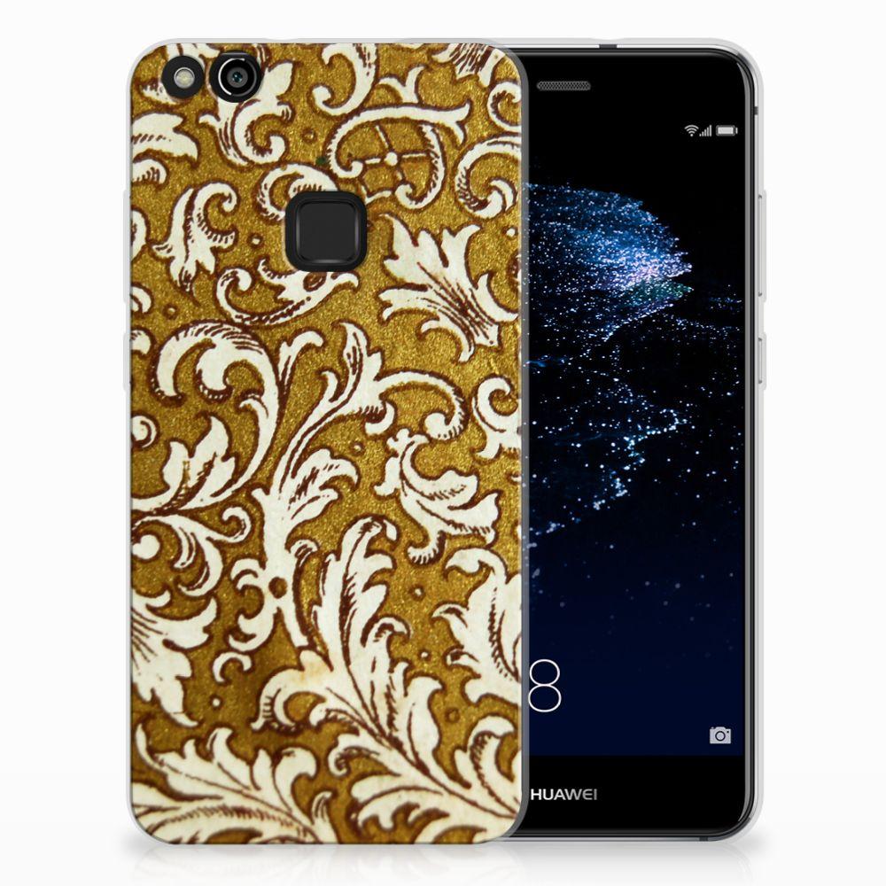 Huawei P10 Lite TPU Hoesje Design Barok Goud