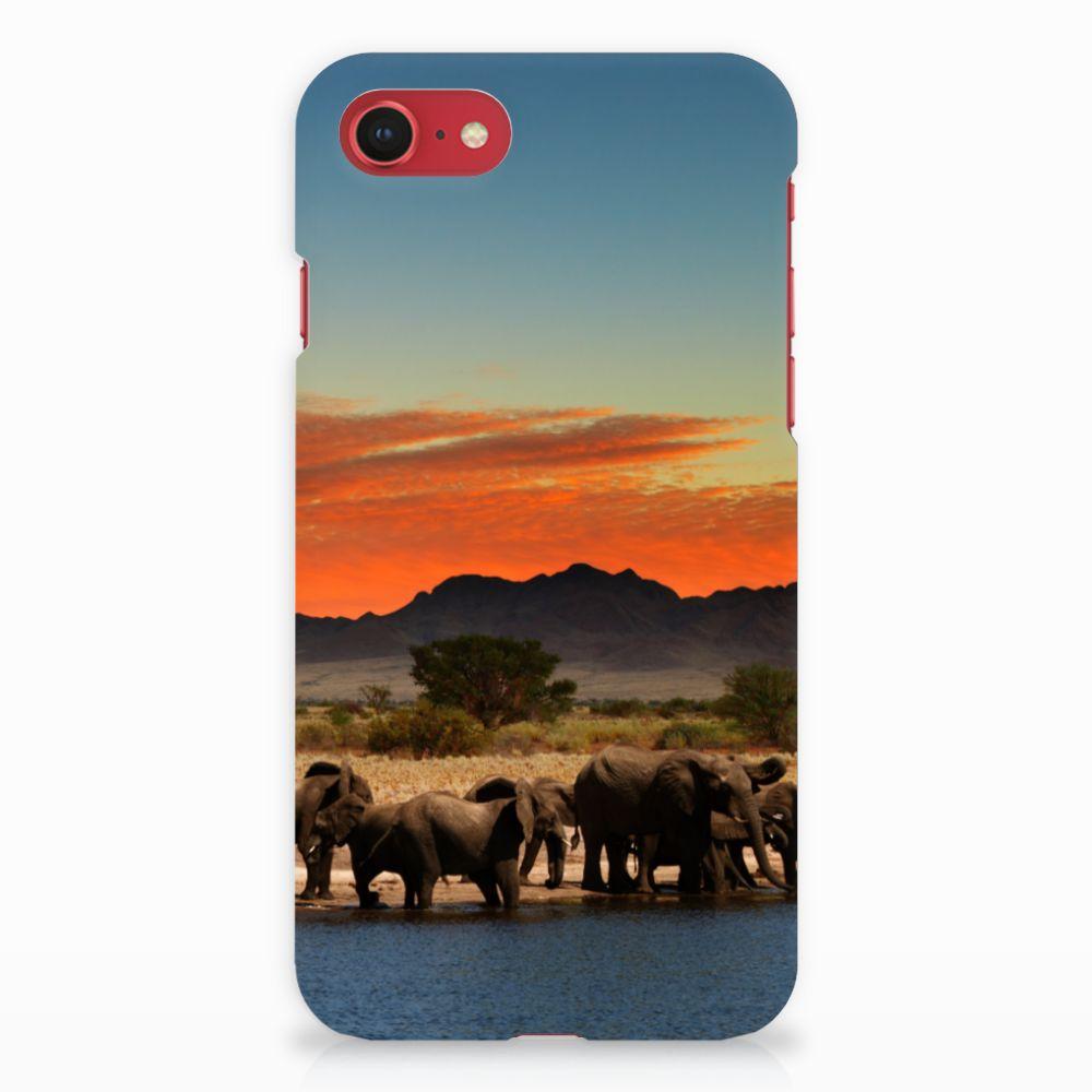 Apple iPhone 7   8 Hardcase Hoesje Design Olifanten
