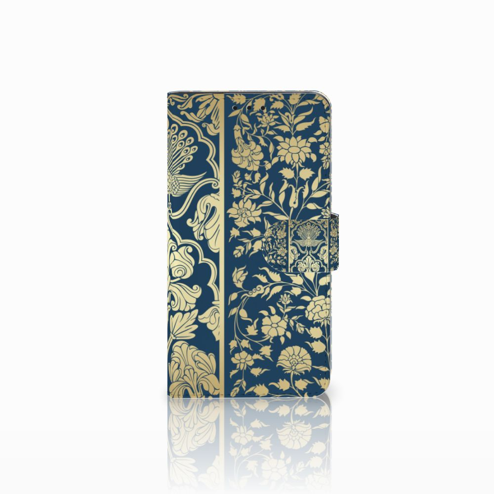 Huawei Honor 6X Uniek Boekhoesje Golden Flowers