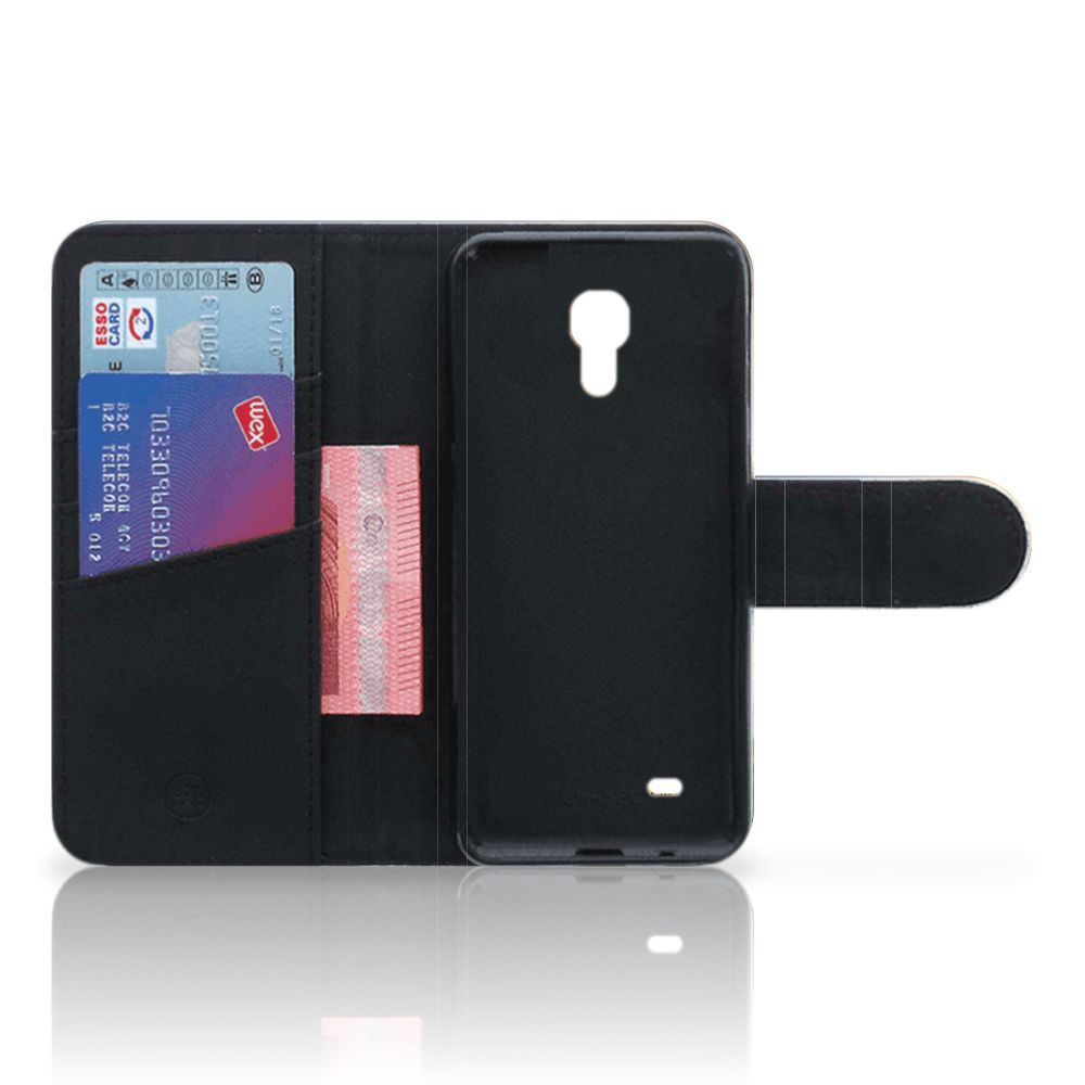 Samsung Galaxy S4 Mini i9190 Telefoonhoesje met Pasjes Koe