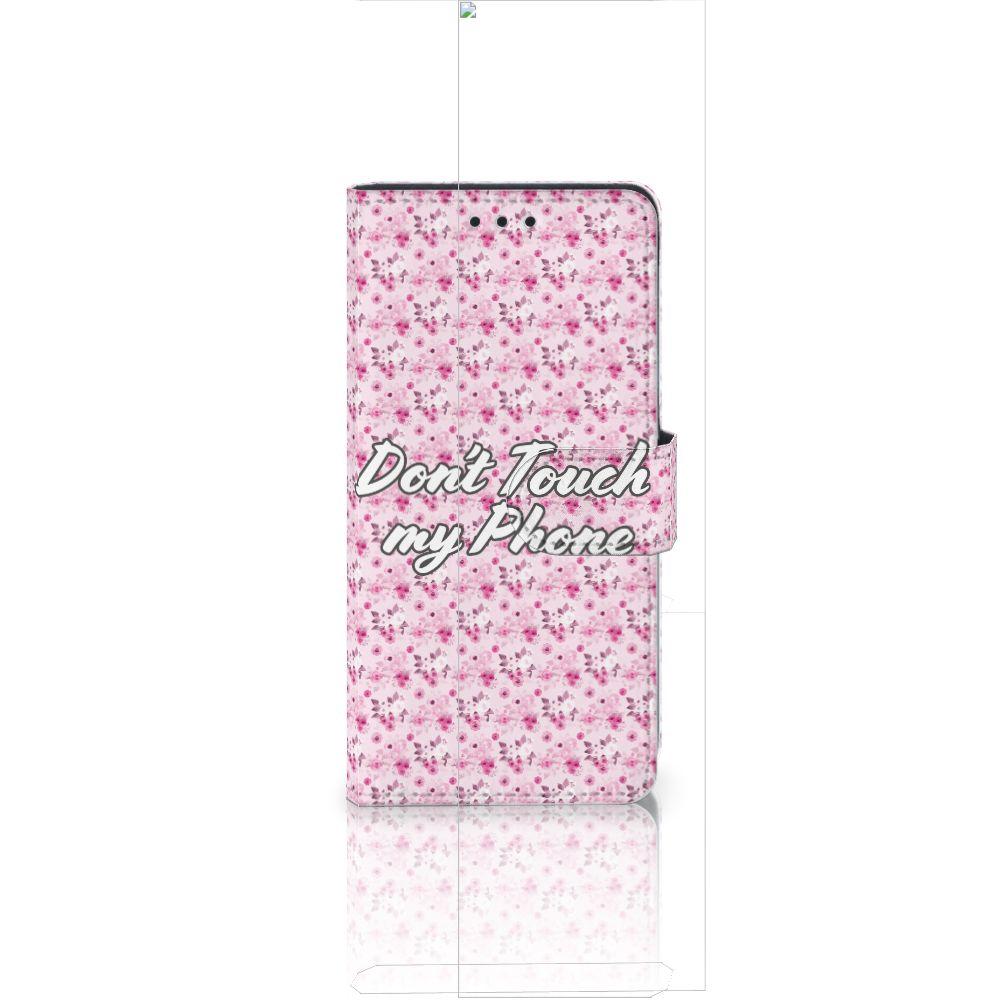 Huawei Ascend P8 Lite Portemonnee hoesje Flowers Pink DTMP