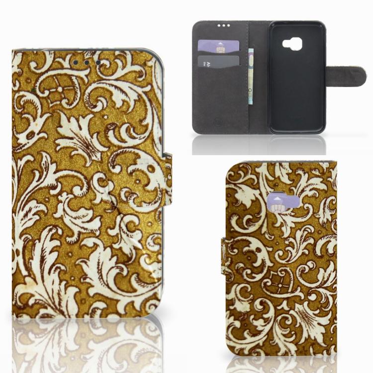 Wallet Case Samsung Galaxy Xcover 4   Xcover 4s Barok Goud
