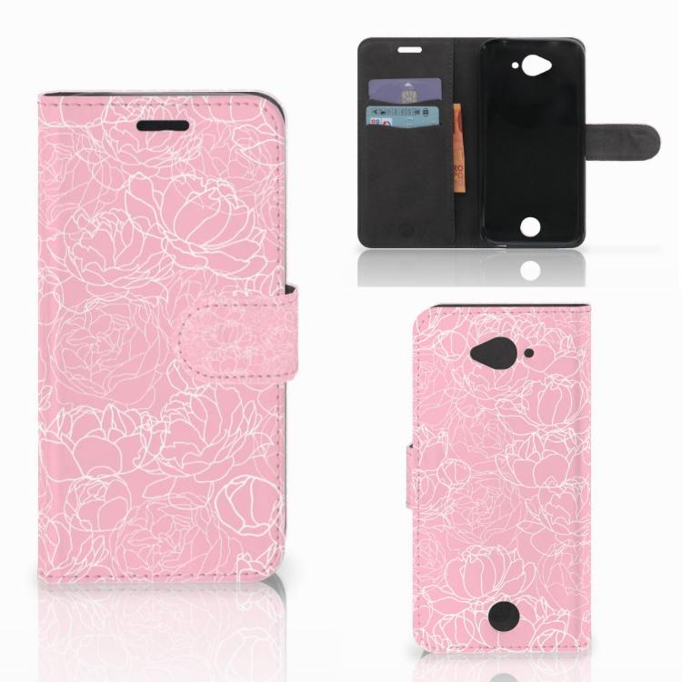 Acer Liquid Z530 | Z530s Wallet Case White Flowers