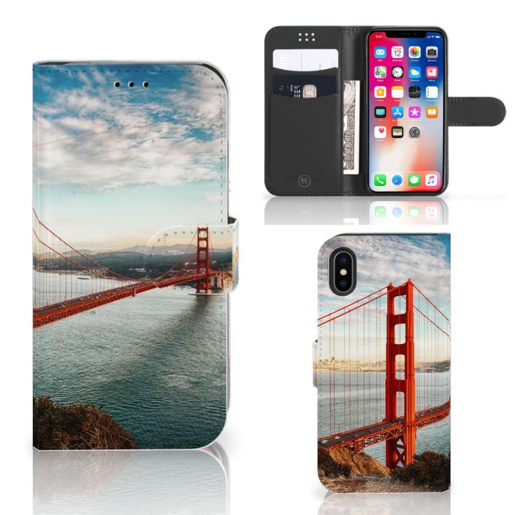 Apple iPhone X | Xs Flip Cover Golden Gate Bridge