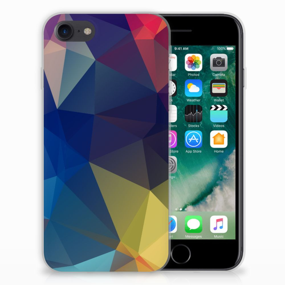 iPhone SE (2020) | 7/8 TPU Hoesje Polygon Dark