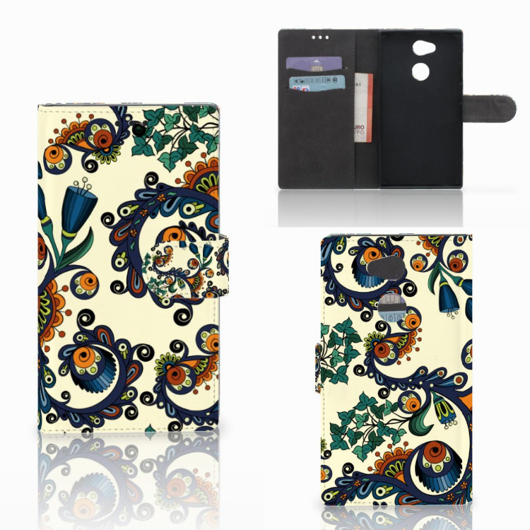 Wallet Case Sony Xperia L2 Barok Flower