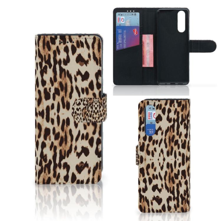 Sony Xperia 5 Telefoonhoesje met Pasjes Leopard