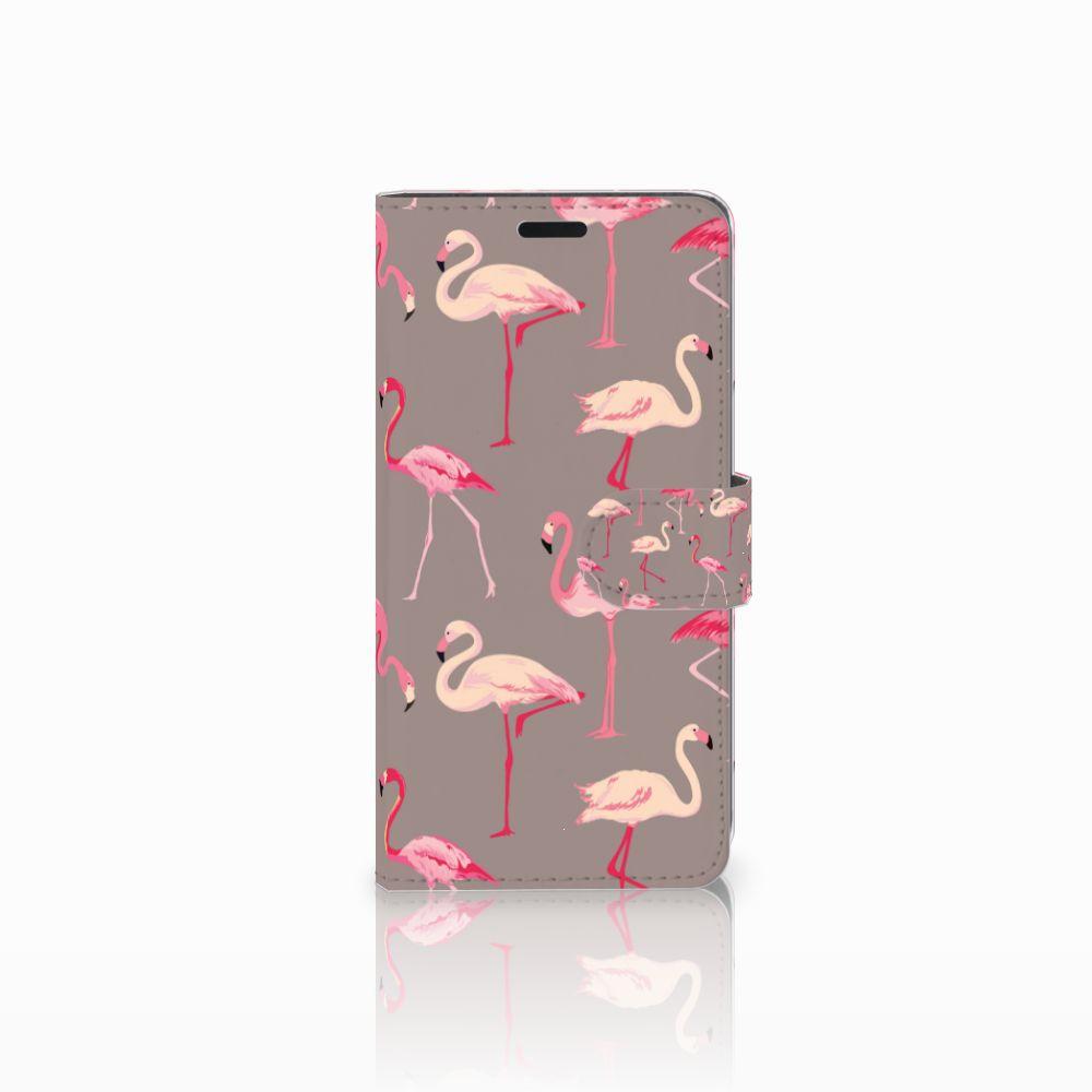 HTC Desire 530 Uniek Boekhoesje Flamingo