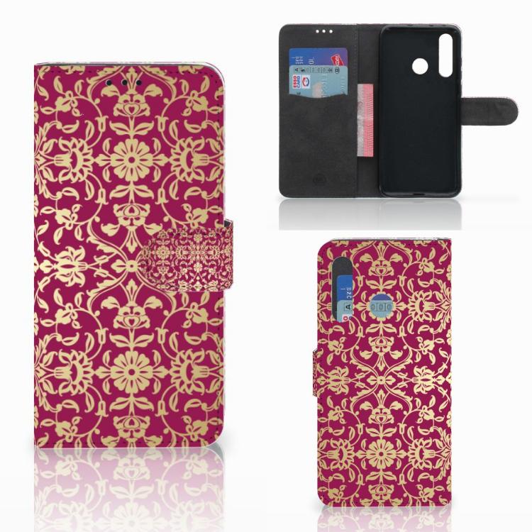 Wallet Case Huawei Nova 4 Barok Pink