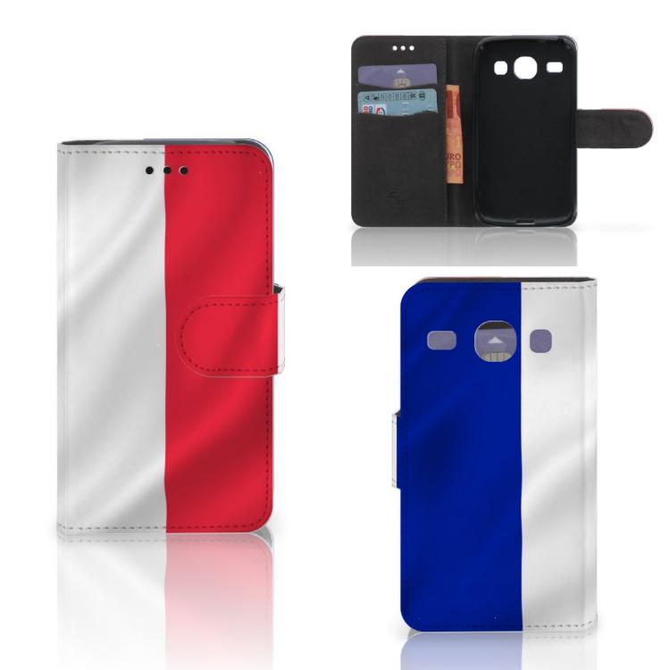 Samsung Galaxy Core i8260 Bookstyle Case Frankrijk