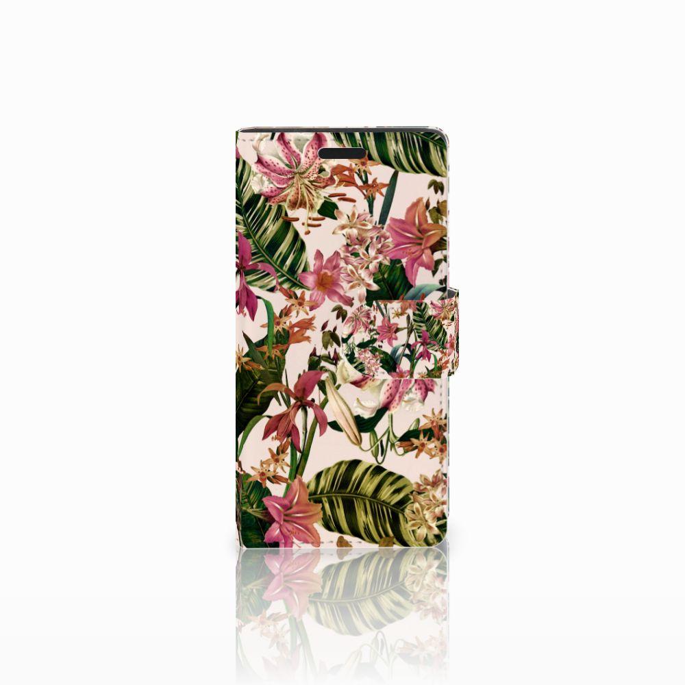 LG Leon 4G Uniek Boekhoesje Flowers