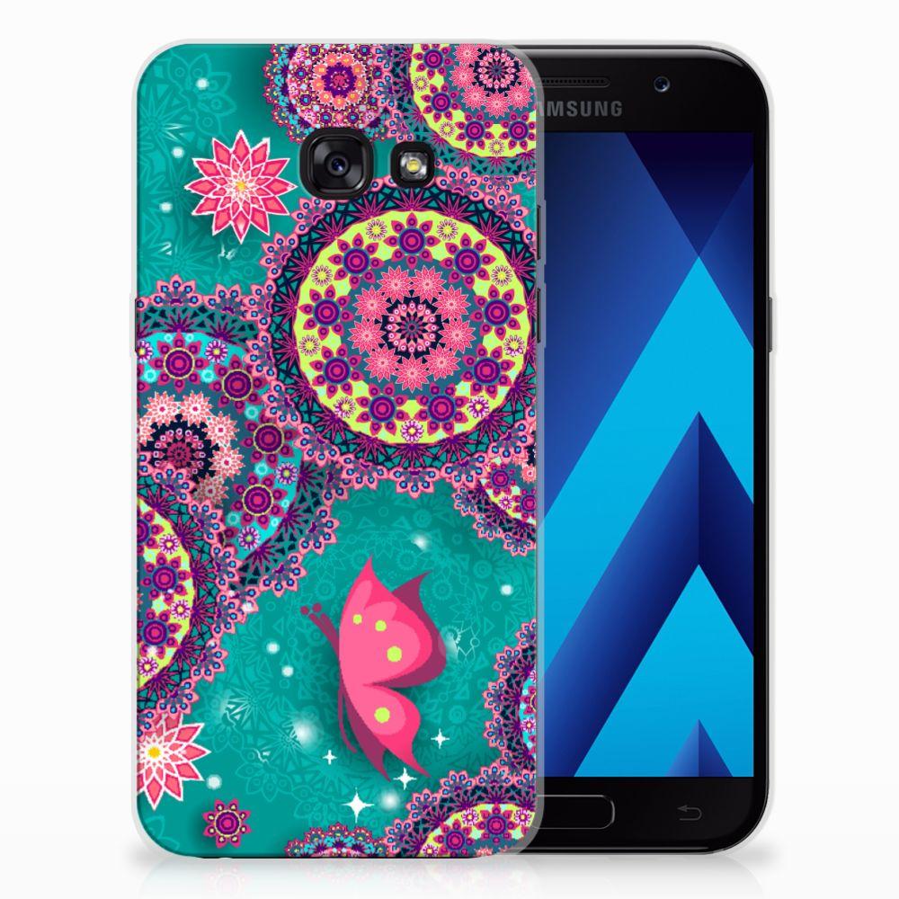 Samsung Galaxy A5 2017 Hoesje maken Cirkels en Vlinders