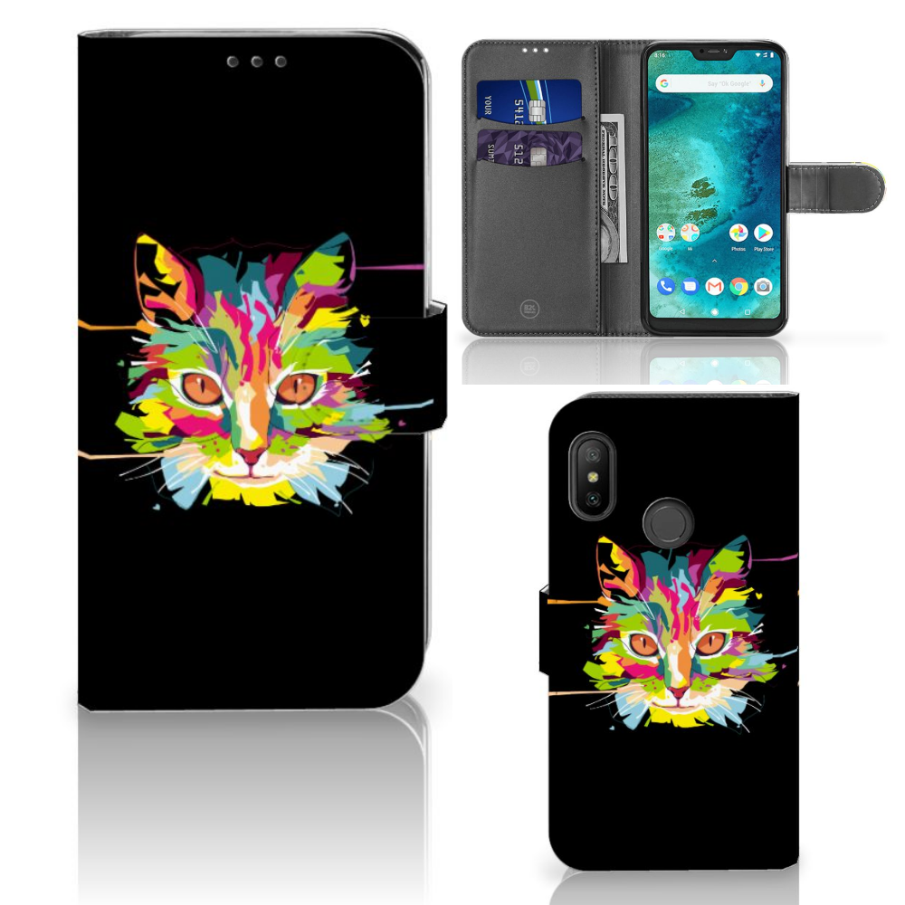 Xiaomi Mi A2 Lite Leuk Hoesje Cat Color