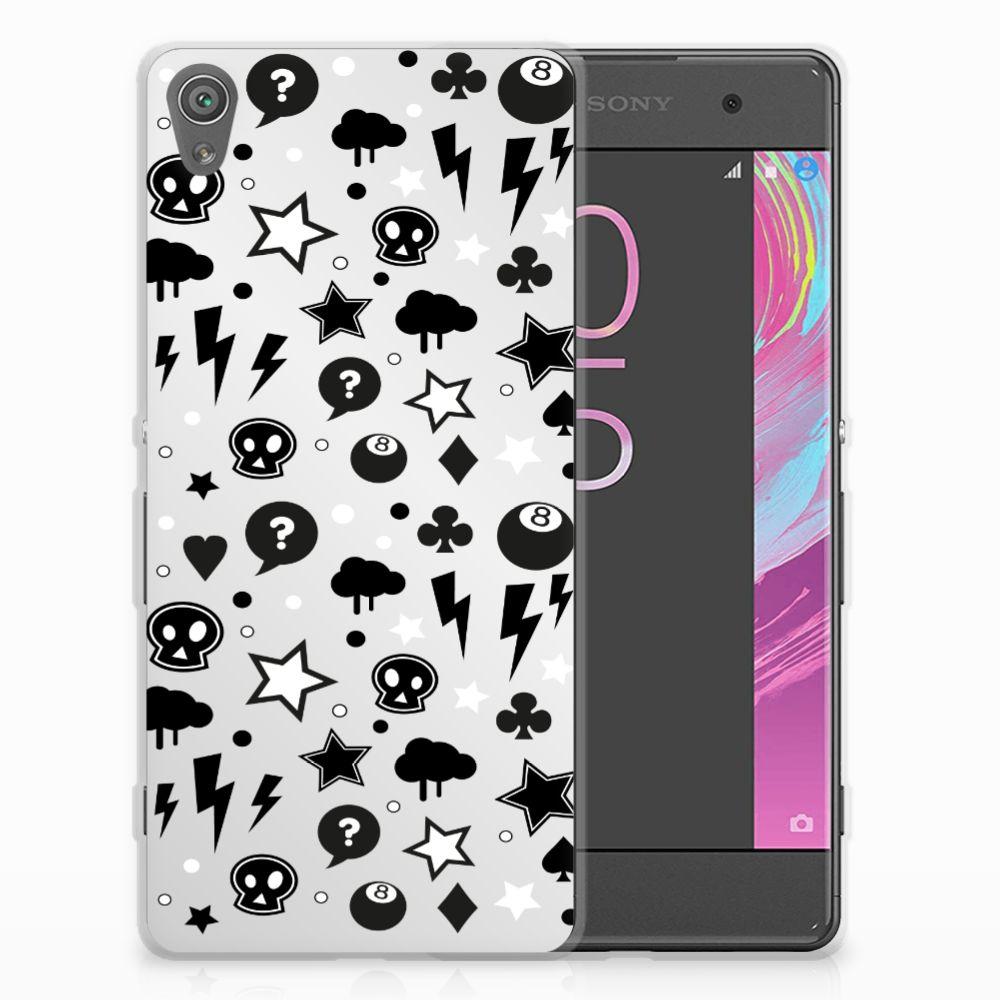 Silicone Back Case Sony Xperia XA | XA Dual Silver Punk