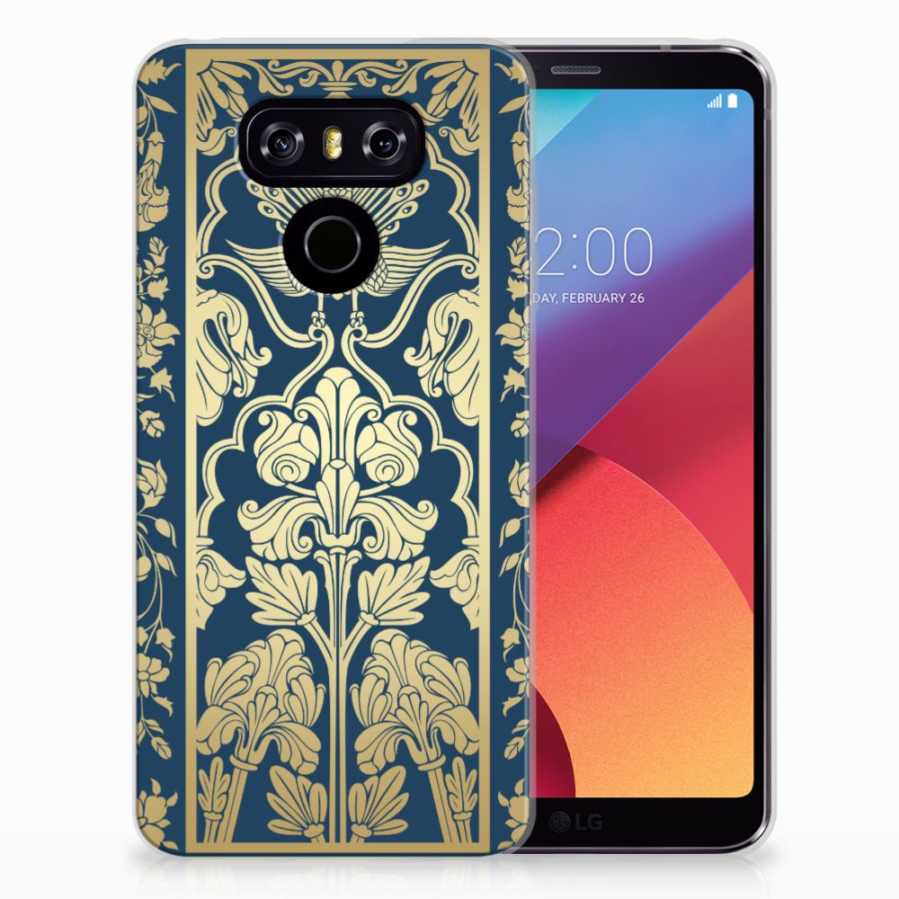 LG G6 TPU Case Golden Flowers