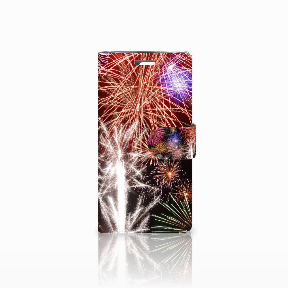 LG K10 2015 Boekhoesje Design Vuurwerk