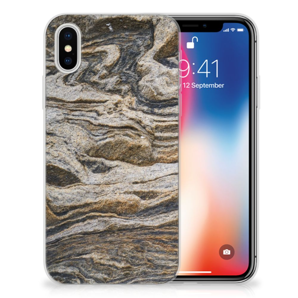 Apple iPhone X | Xs TPU Hoesje Design Steen