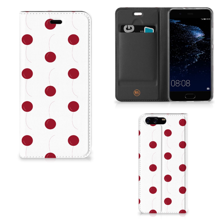 Huawei P10 Flip Style Cover Cherries