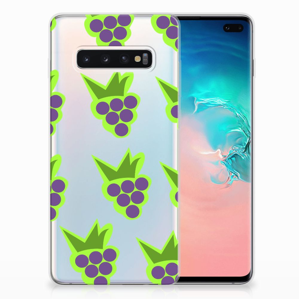 Samsung Galaxy S10 Plus Siliconen Case Druiven
