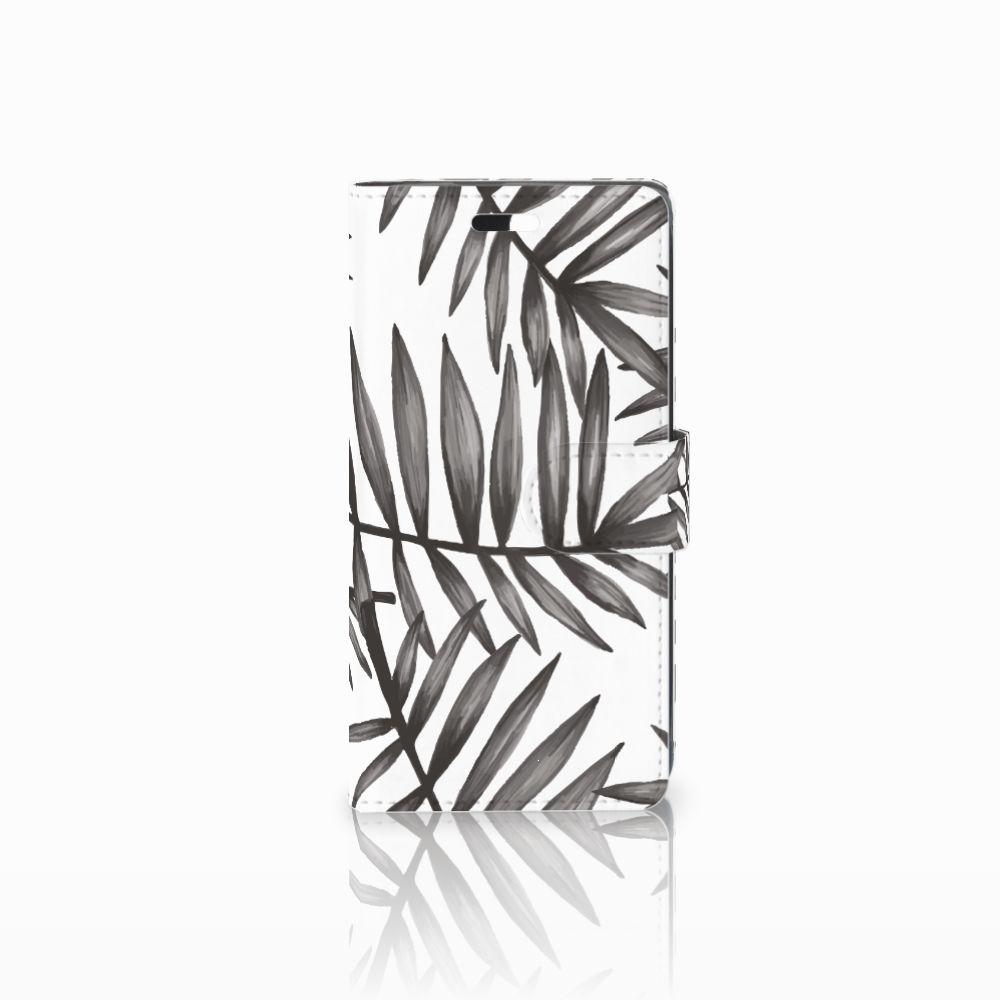 Huawei Y635 Uniek Boekhoesje Leaves Grey