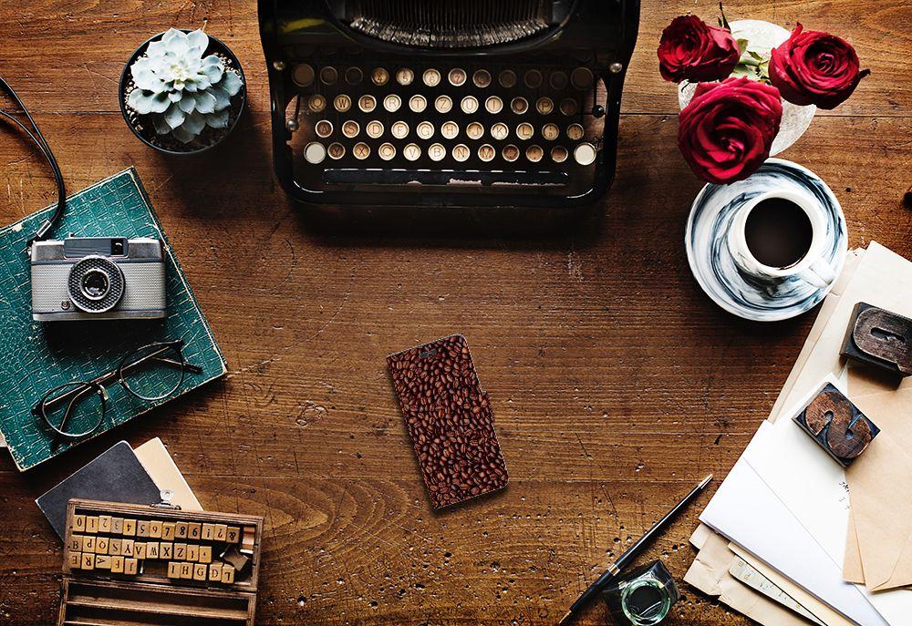 Huawei Ascend Y550 Book Cover Koffiebonen