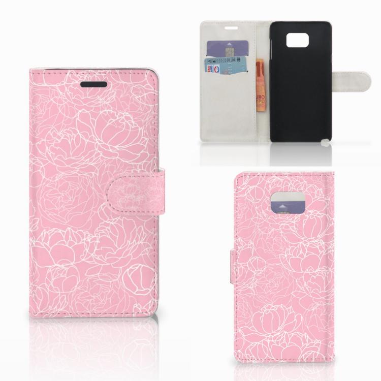 Samsung Galaxy Note 5 Wallet Case White Flowers