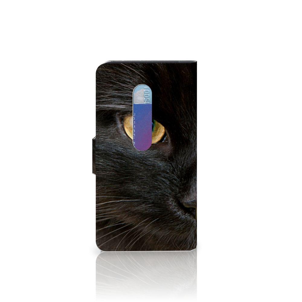 Motorola Moto G 3e Generatie Telefoonhoesje met Pasjes Zwarte Kat