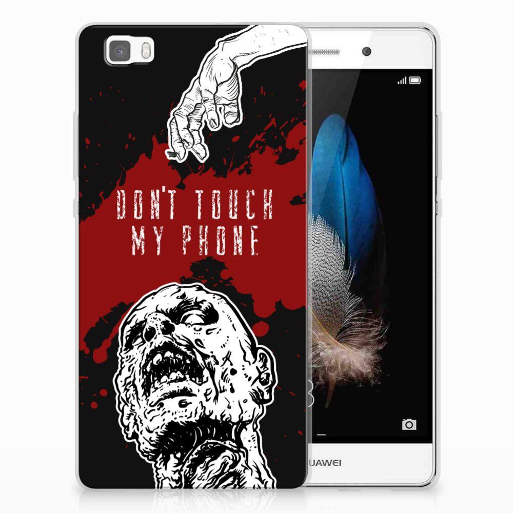 Huawei Ascend P8 Lite TPU Hoesje Design Zombie Blood