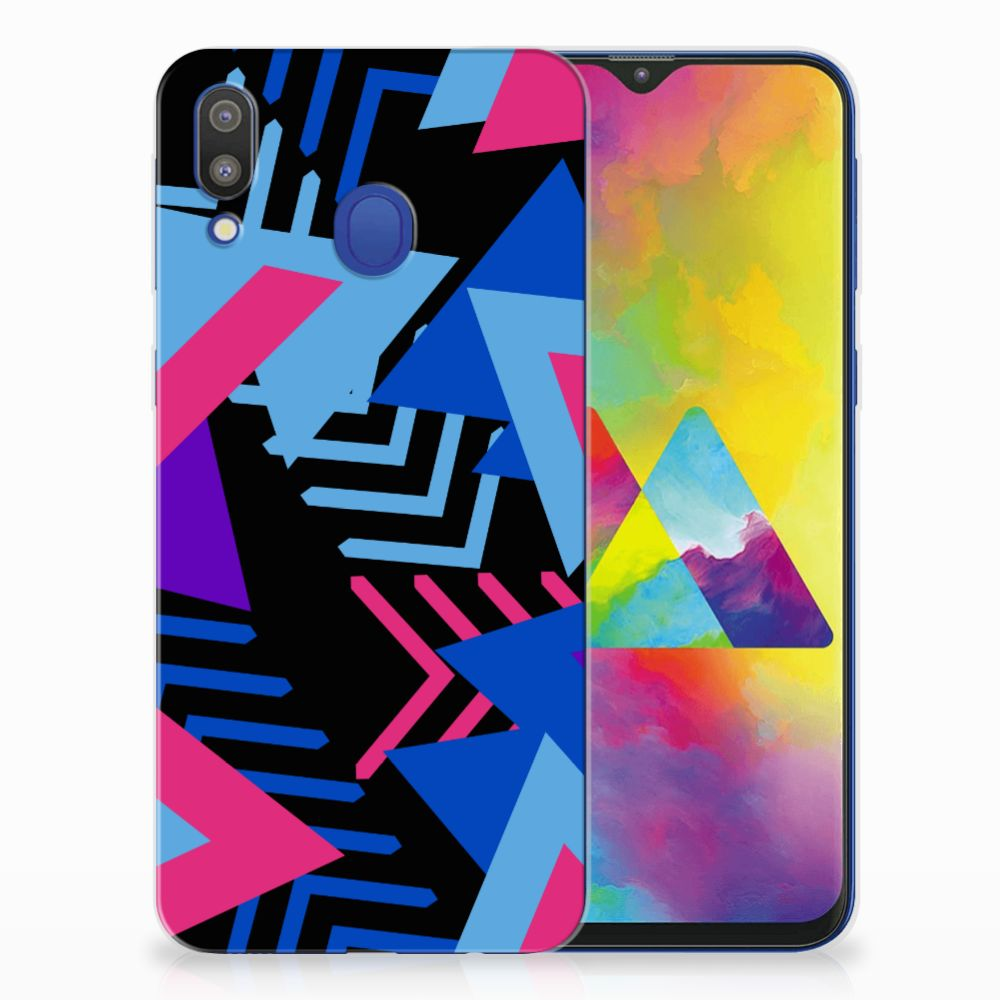 Samsung Galaxy M20 (Power) TPU Hoesje Funky Triangle