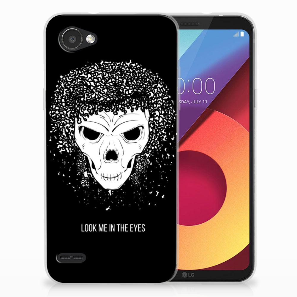 Silicone Back Case LG Q6   LG Q6 Plus Skull Hair