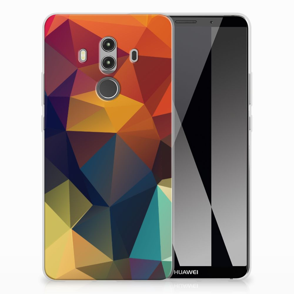 Huawei Mate 10 Pro TPU Hoesje Polygon Color