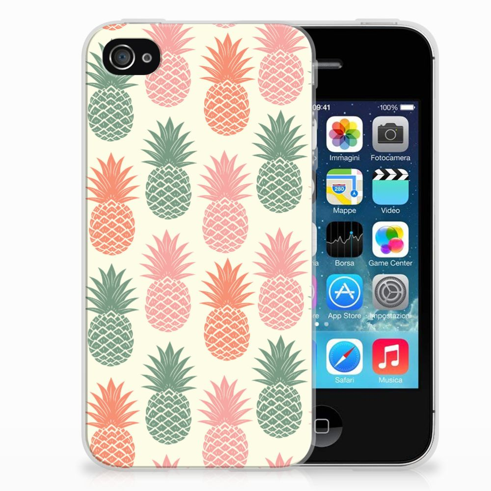 Apple iPhone 4 | 4s Siliconen Case Ananas