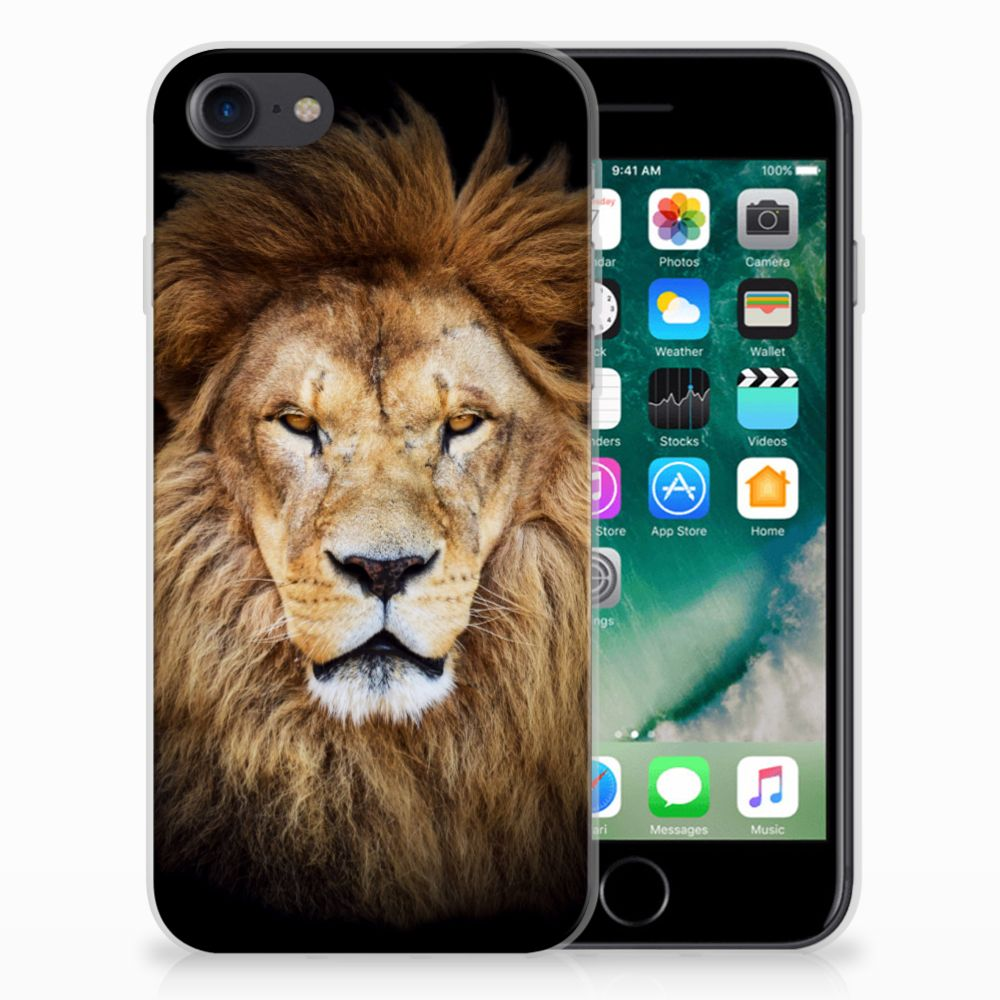 Apple iPhone 7   8 TPU Hoesje Design Leeuw