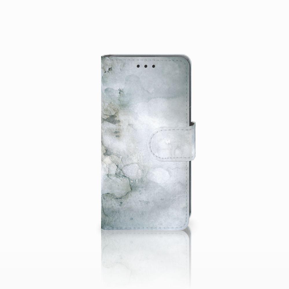 Nokia Lumia 630 Uniek Boekhoesje Painting Grey