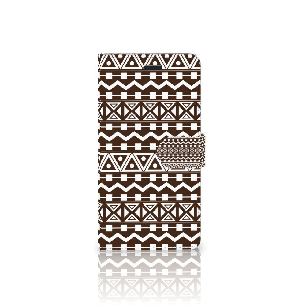 Samsung Galaxy A7 2017 Uniek Boekhoesje Aztec Brown