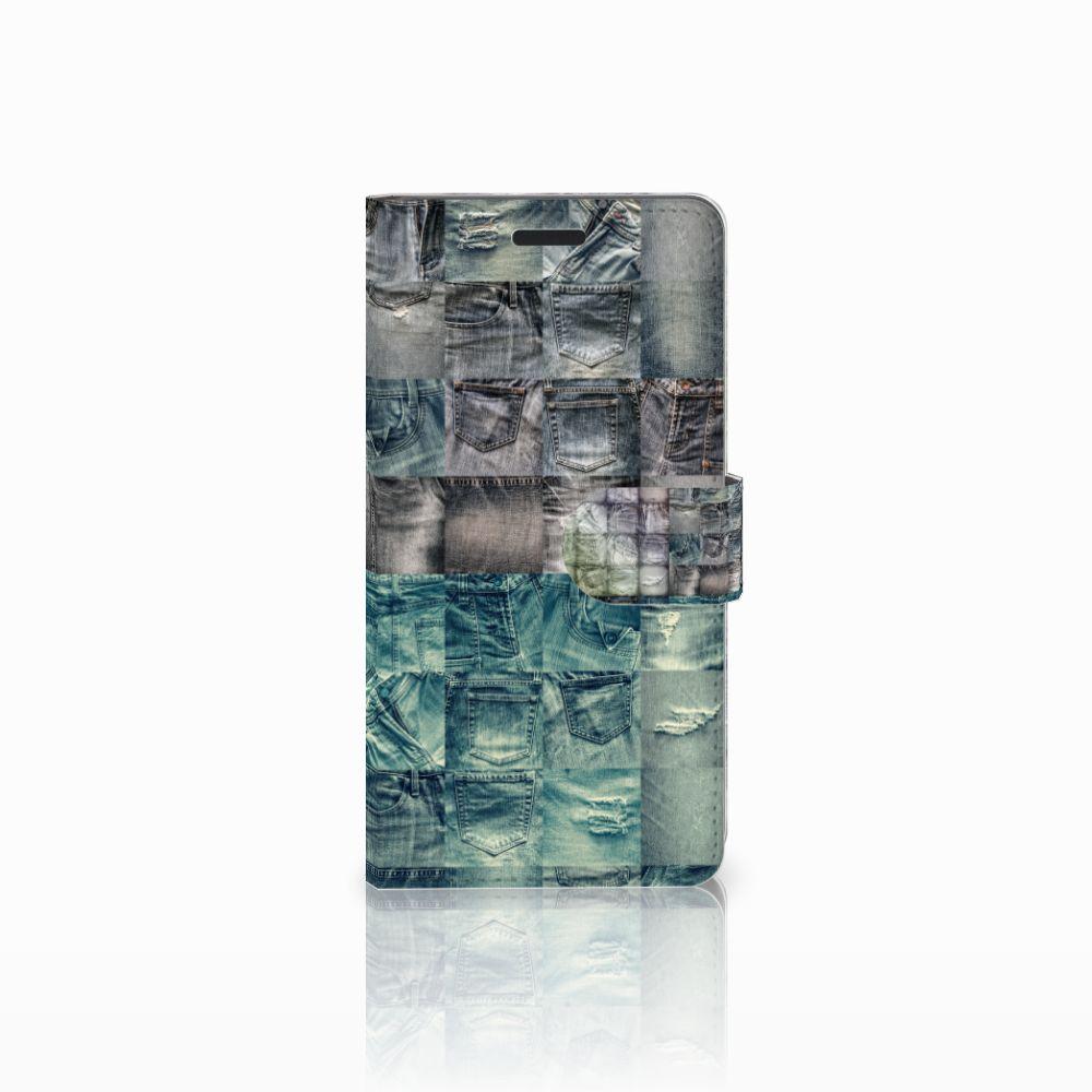 Samsung Galaxy A7 2015 Uniek Boekhoesje Spijkerbroeken