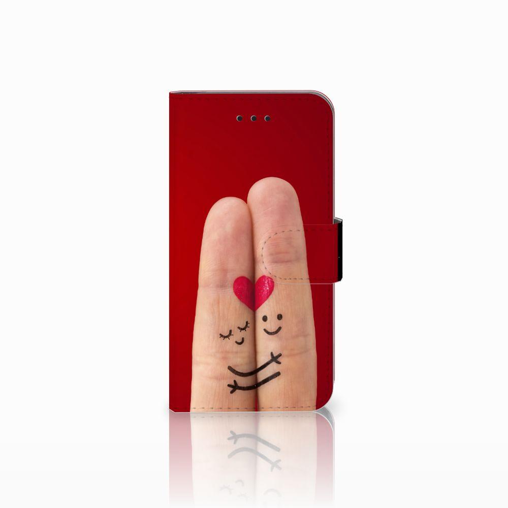 Apple iPhone X   Xs Uniek Boekhoesje Liefde