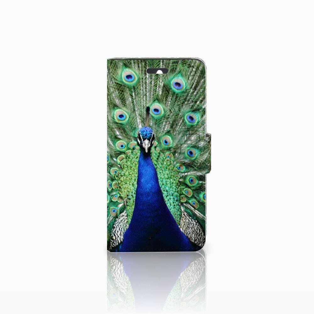 Huawei Ascend Y550 Telefoonhoesje met Pasjes Pauw