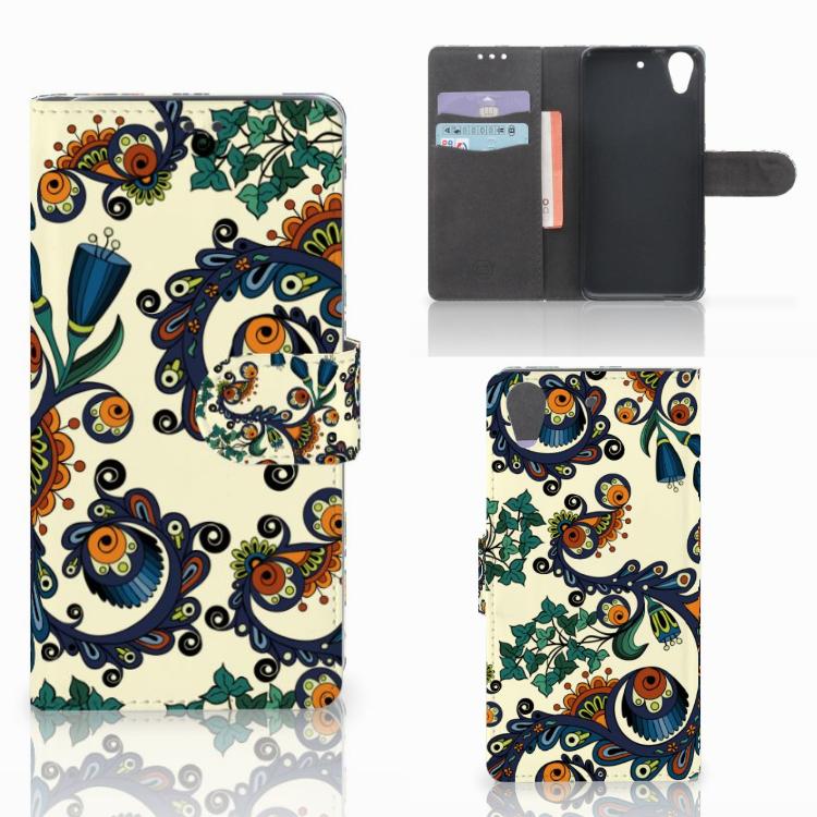 Wallet Case HTC Desire 626 | Desire 626s Barok Flower