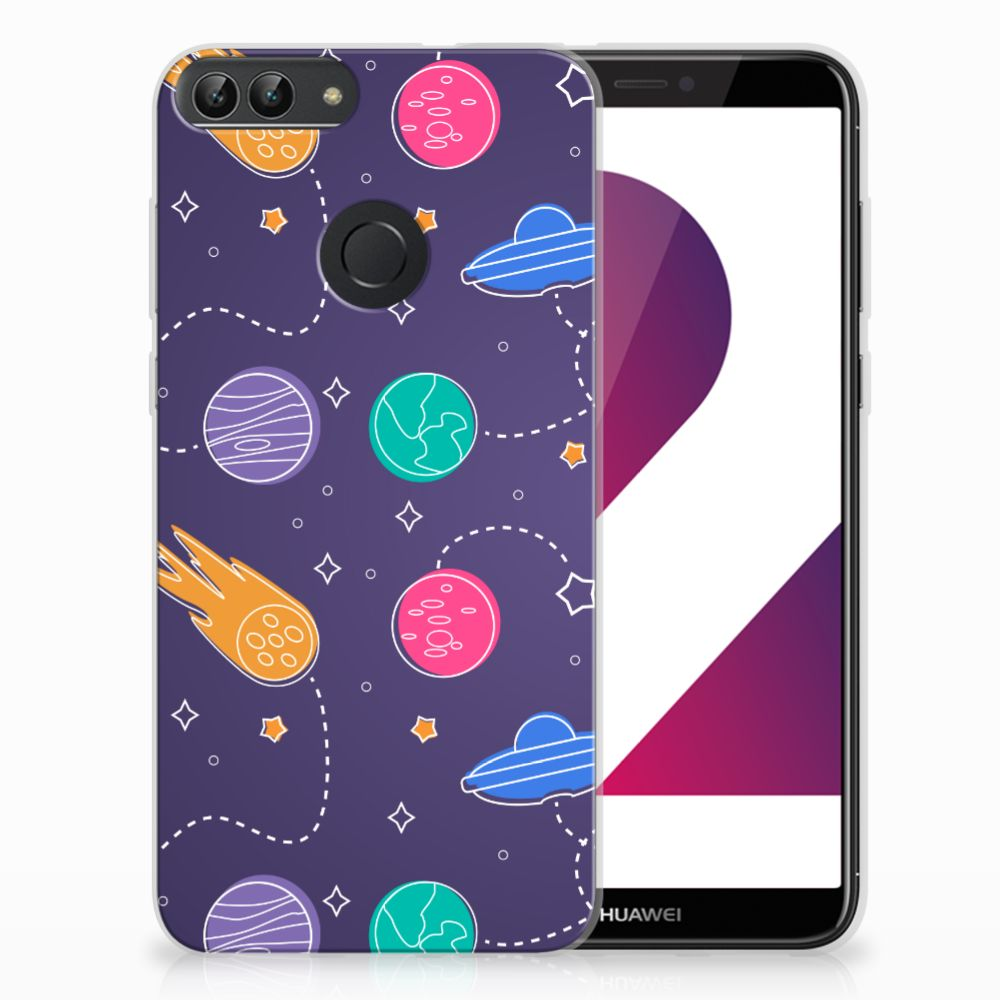 Huawei P Smart Uniek TPU Hoesje Space