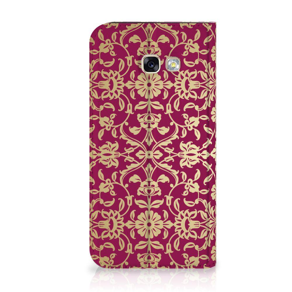 Samsung Galaxy A5 2017 Standcase Hoesje Design Barok Pink
