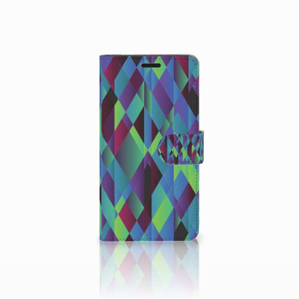 Sony Xperia T3 Boekhoesje Design Abstract Green Blue