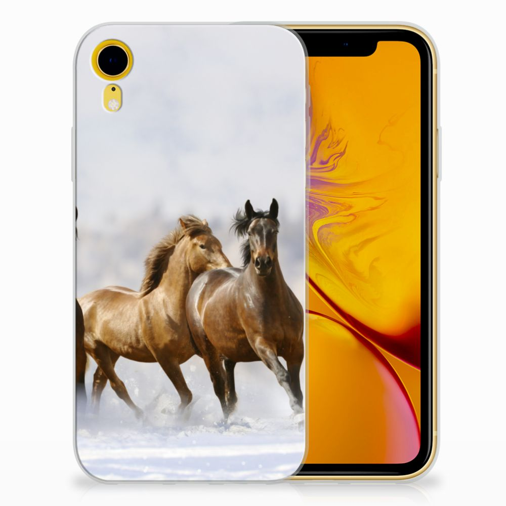 Apple iPhone Xr Leuk Hoesje Paarden