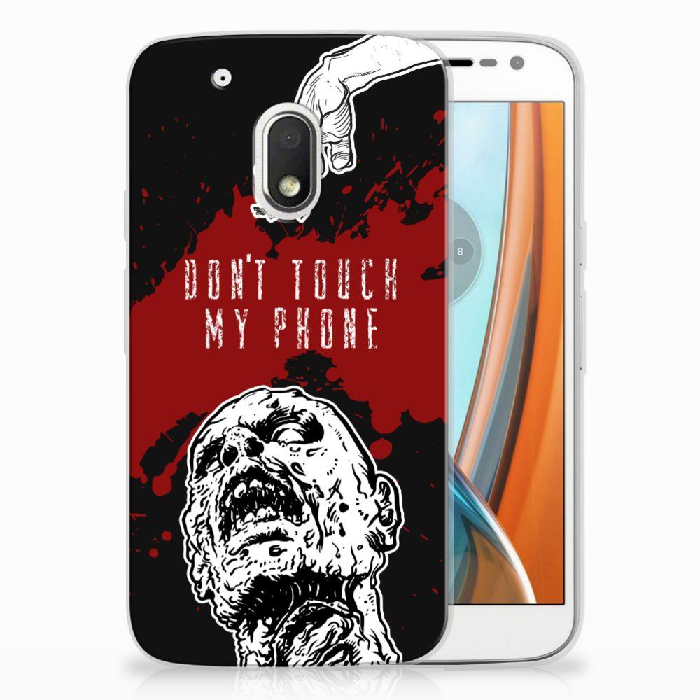 Motorola Moto G4 Play TPU Hoesje Design Zombie Blood