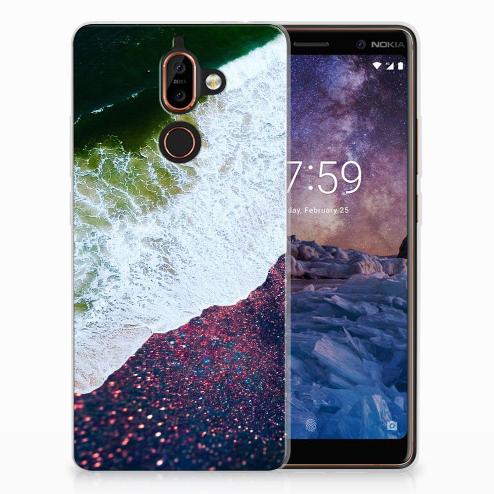 Nokia 7 Plus TPU Hoesje Sea in Space