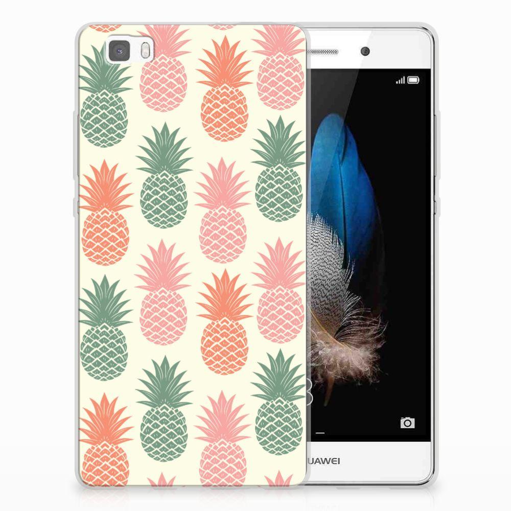 Huawei Ascend P8 Lite Siliconen Case Ananas