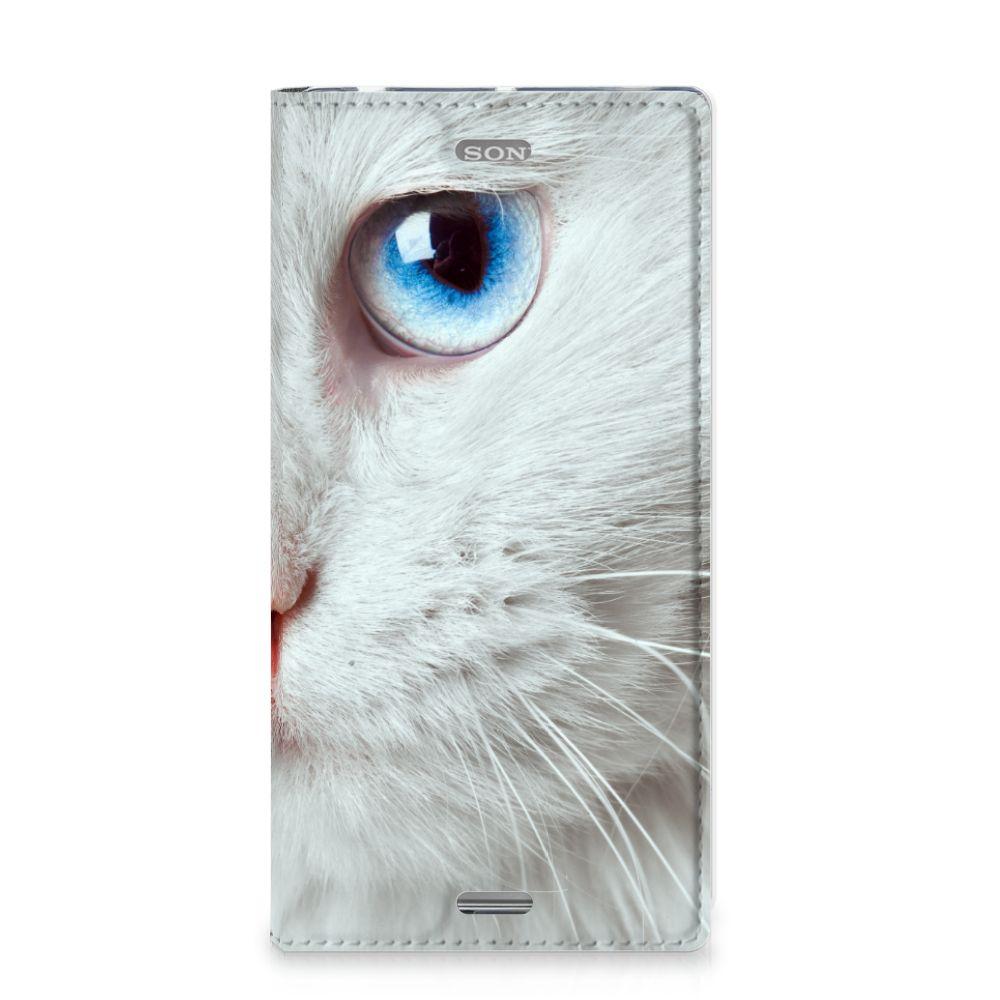 Sony Xperia XZ1 Hoesje maken Witte Kat