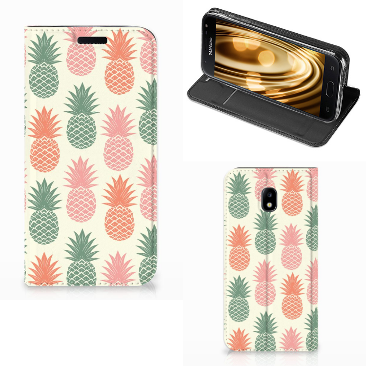 Samsung Galaxy J3 2017 Flip Style Cover Ananas