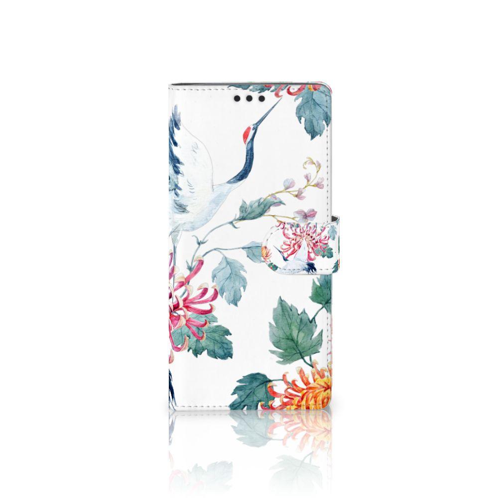 Sony Xperia XA Ultra Uniek Boekhoesje Bird Flowers
